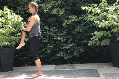 Yoga posture balance