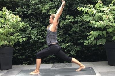 Yoga posture high lunge
