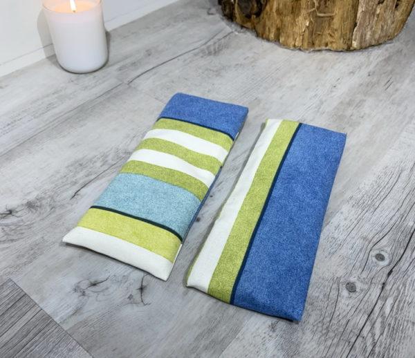 blue stripe eye pillow