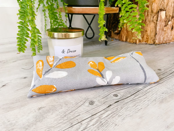 eye pillow orange leaf