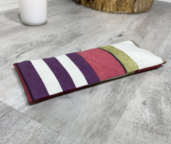 red stripe eye pillow